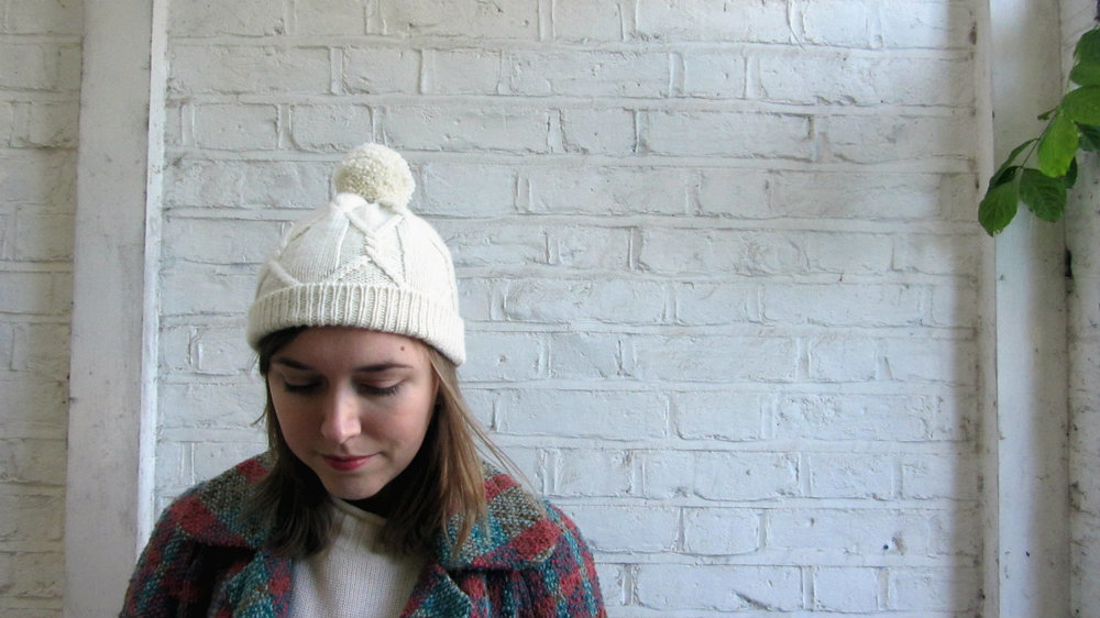 Fitted Cabled Beanie Pattern