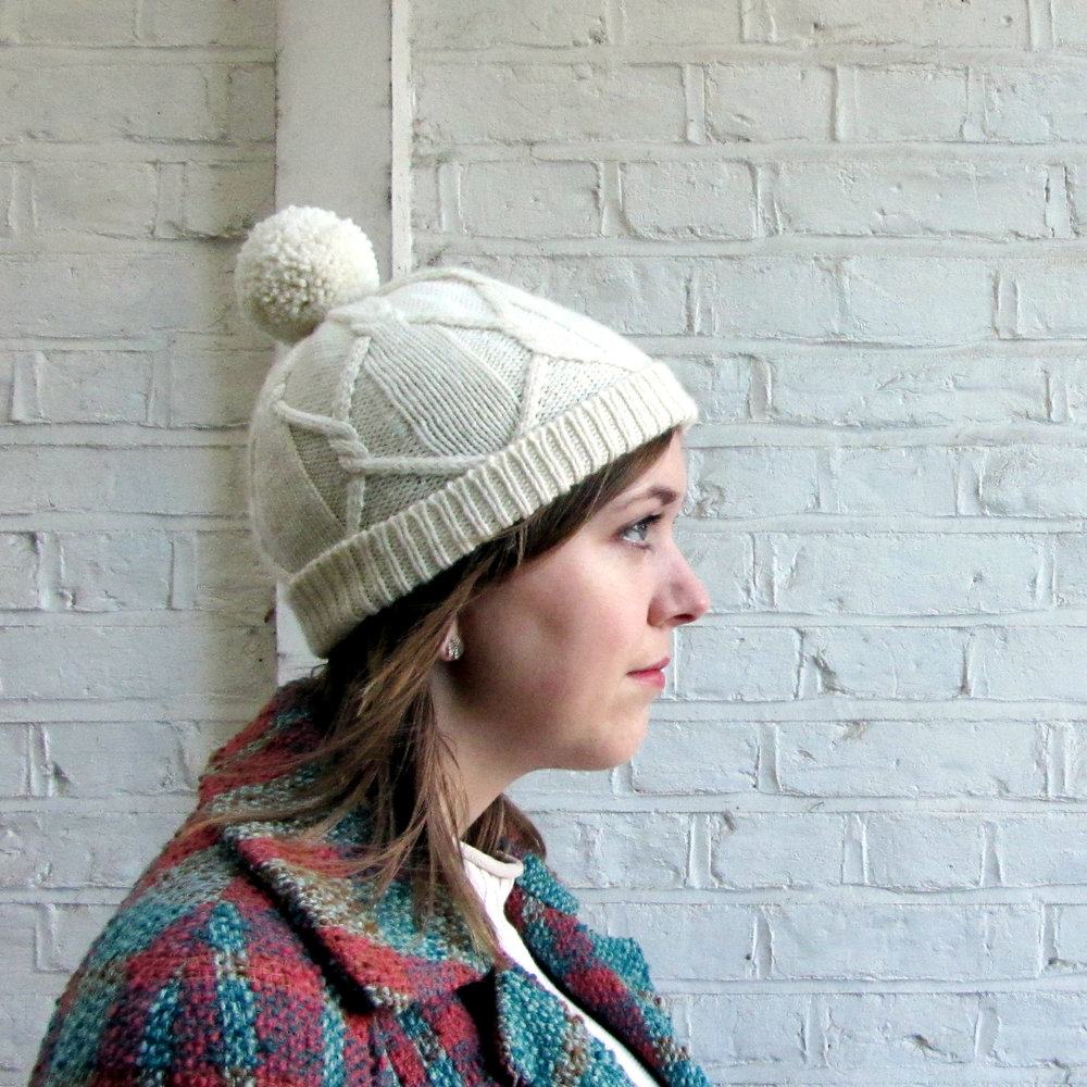 Free Knitting Pattern: Cabled Hat for Adults and Children