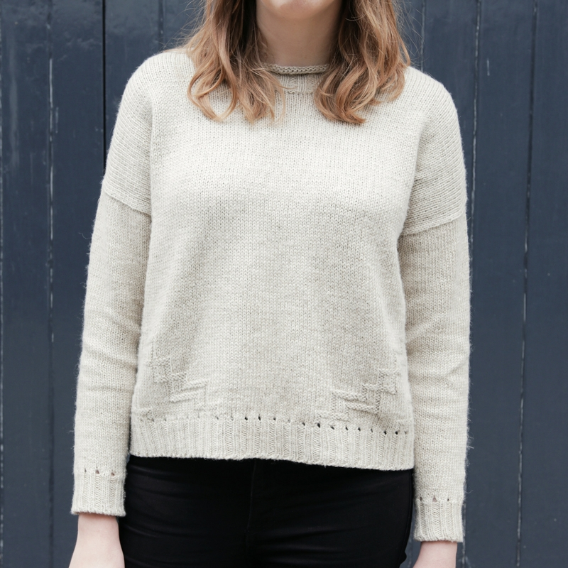 Introducing Split Stone: my latest boxy sweater pattern.