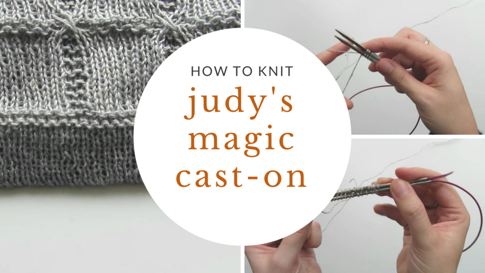 Knitting Tutorial How To Knit Judys Magic Cast On Sister Mountain