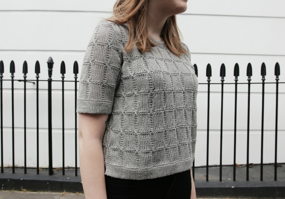 Fragment T-Shirt Knitting Pattern by Sister Mountain