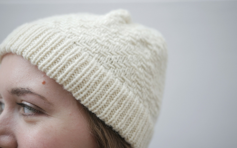 Bowman Hat in a Slipped Stitch Knitting Pattern