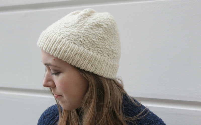Slipped Stitch Hat Knitting Pattern