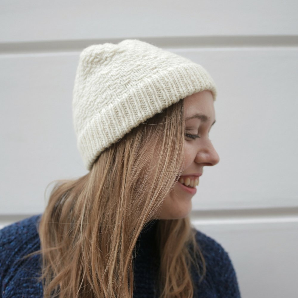 Bowman Hat Knitting Pattern - My sample is the larger size in the sailor length and knitted up in only a couple of evenings.