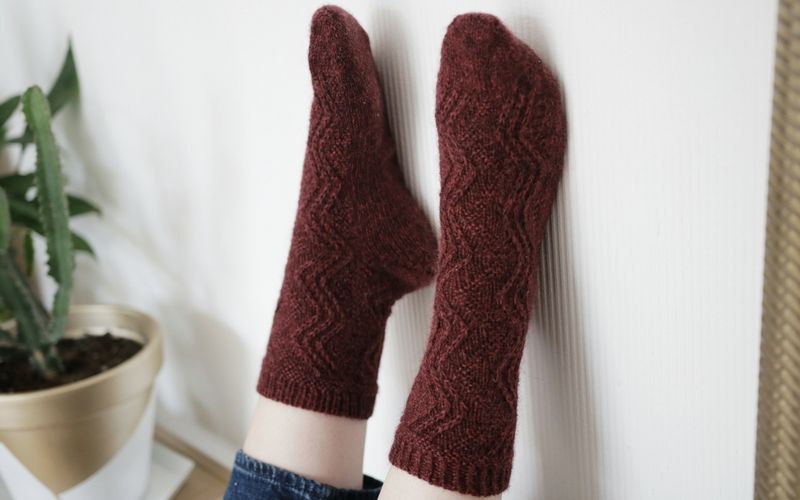 Bronte Socks - a knitting pattern by Clare Mountain