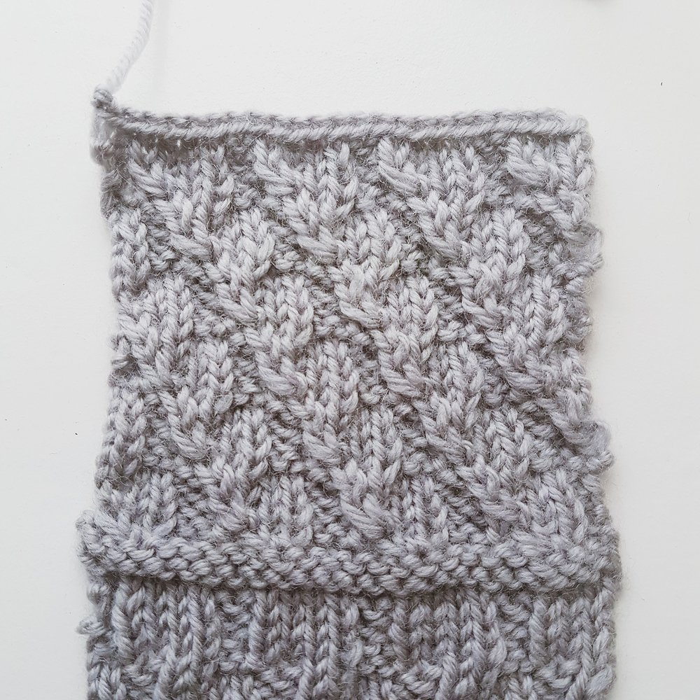 My new variation on the Left Diagonal stitch