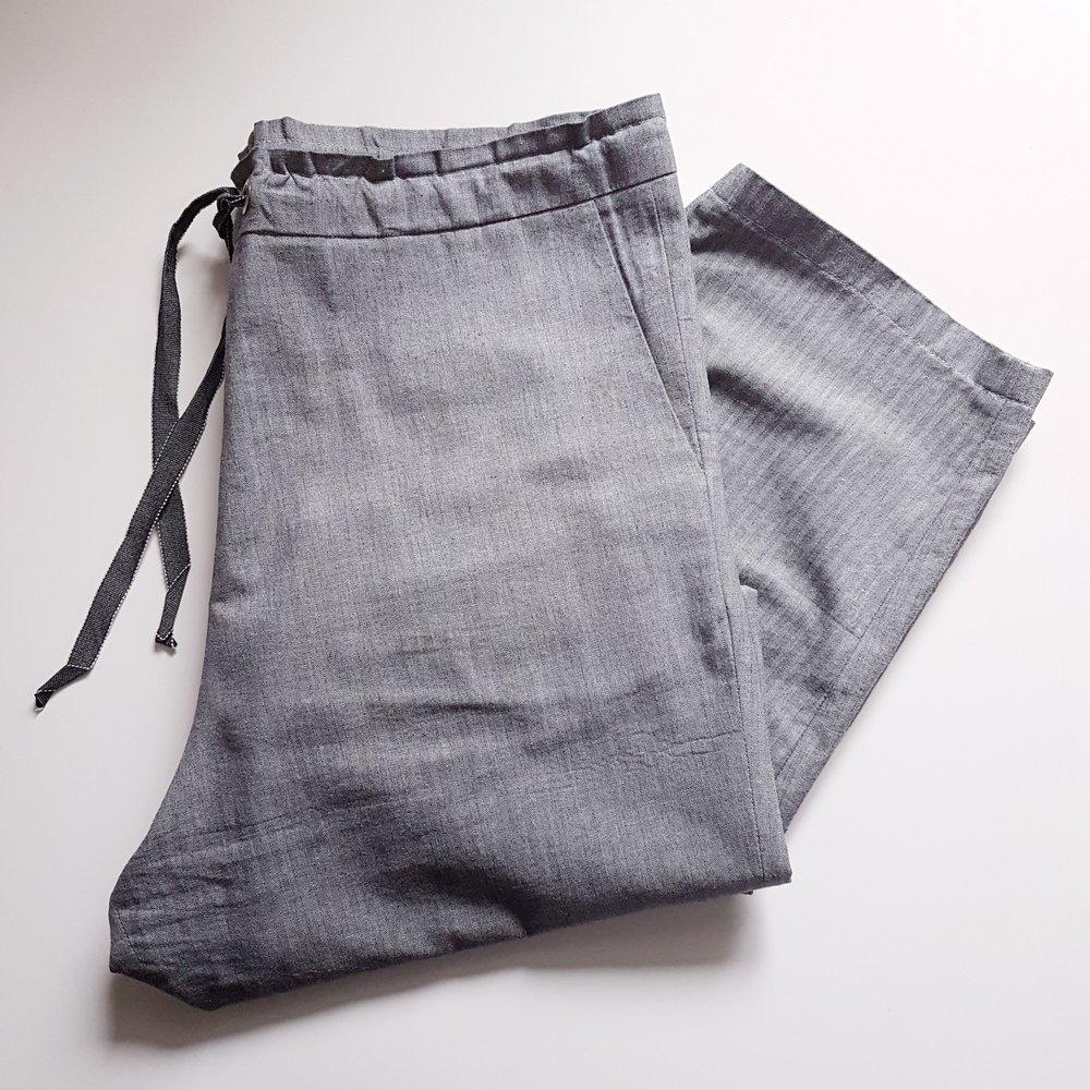 101 Trousers in Herringbone Cotton Linen