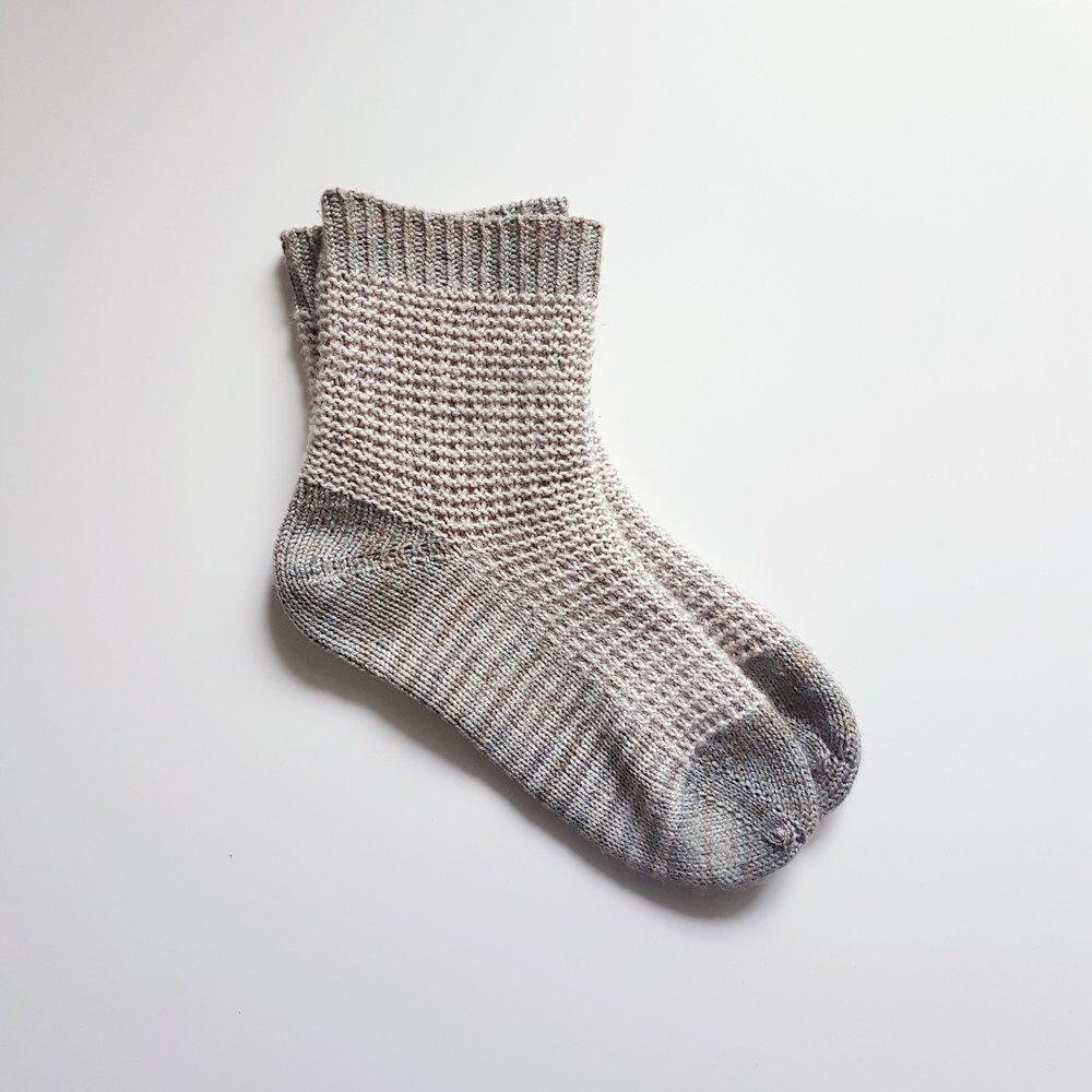Gaufre Socks in Madeline Tosh Sock