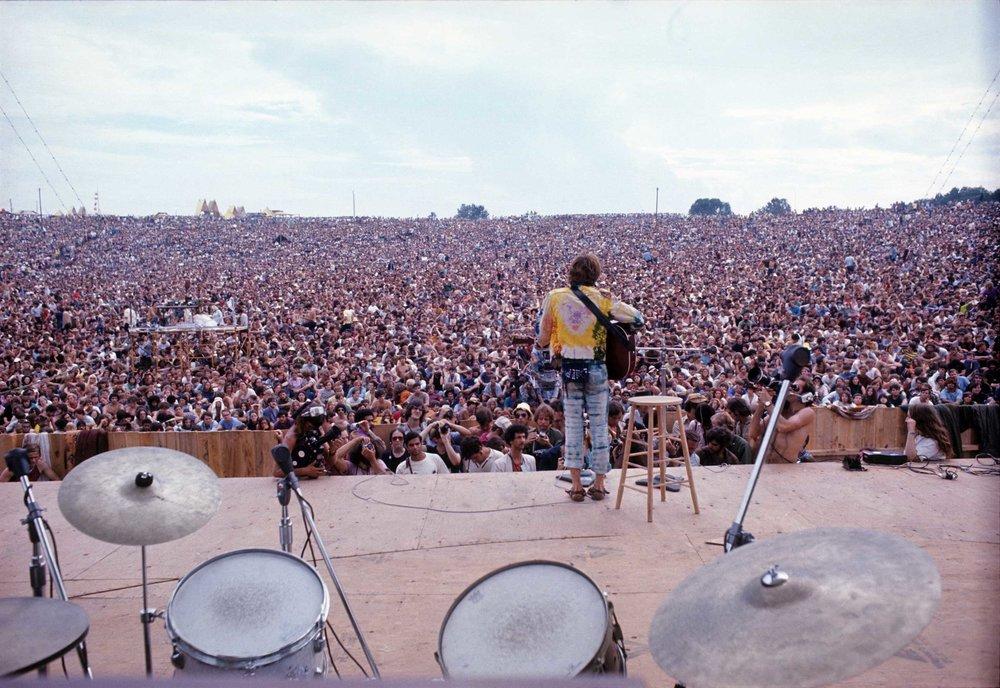 John Sebastian performing at Woodstock 1969 © Henry Diltz Corbis