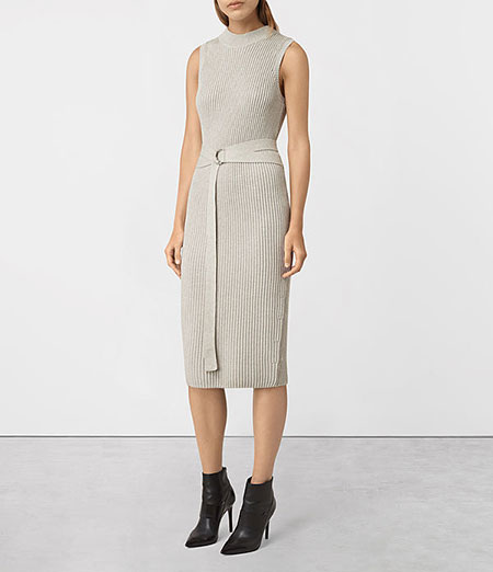 ALLSAINTS - East Dress, Mist Grey - £148/$268