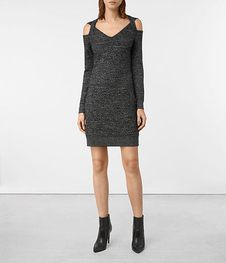 ALLSAINTS - Neri Twist Dress, Black - £128/$230