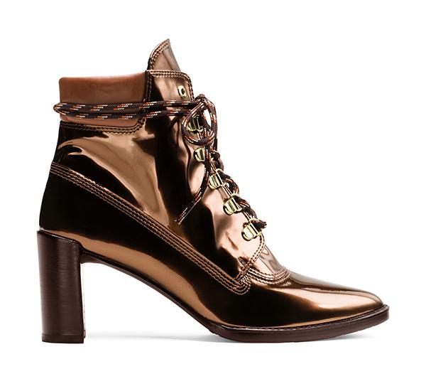 GIGI High Shine Specchio Leather in Copper, £460/$565