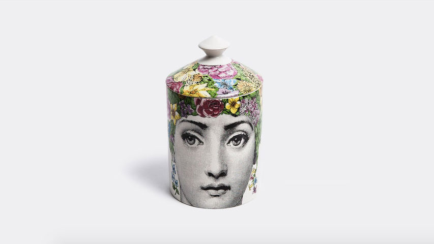 Another artistic piece, the 'Flora' scented candle by Fornasetti Profumi, £115