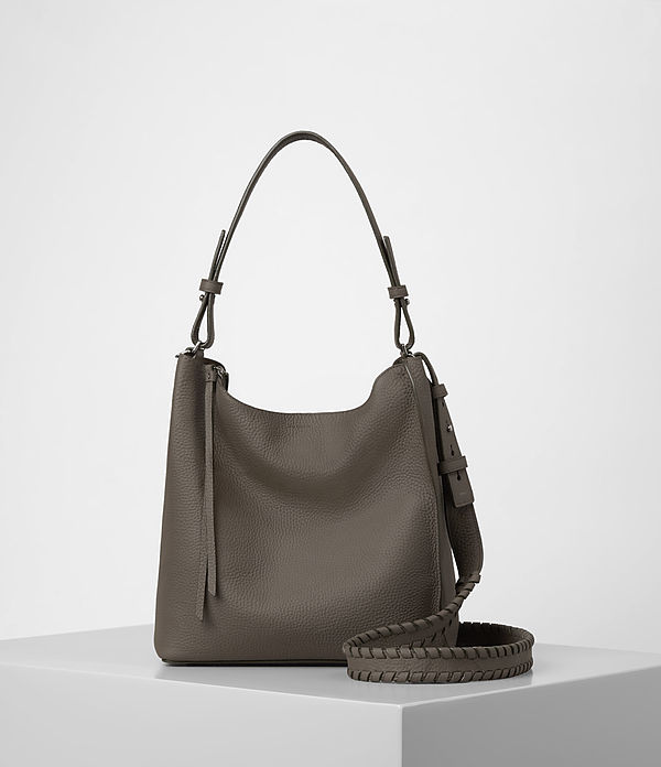 ALLSAINTS Kita Crossbody Bag in Mink Grey, £198/$298