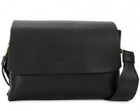 DKNY Small Leather Cross-Body Bag in Black, £215/$261