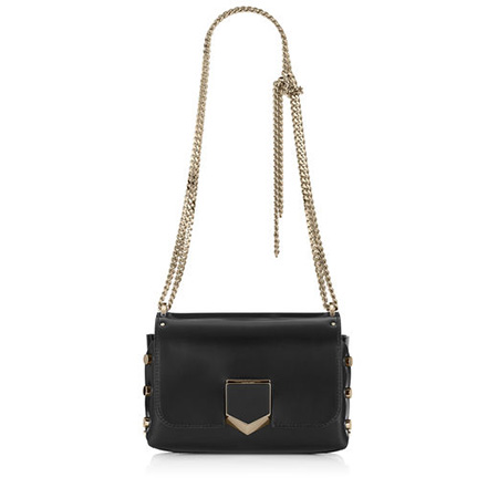 JIMMY CHOO Black & Gold Spazzolato Leather Bag, £895/$1,450