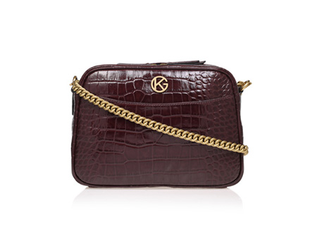 KURT GEIGER LONDON Croc Plum Cross-body Bag, £150/$182