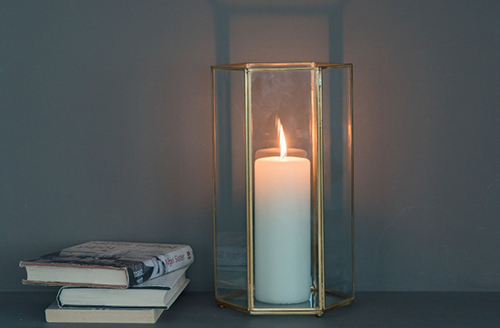KELLY HOPPEN - Quartz Hurricane Candle Holder, £30