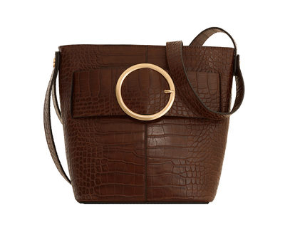 MANGO Buckle Bag in Chocolate, £35.99/$44