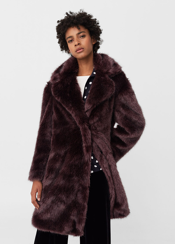 Wear this Faux Fur Coat, £89.99, and you will be ultra cosy and warm as well as stand out gorgeous, arriving to the ball in style!