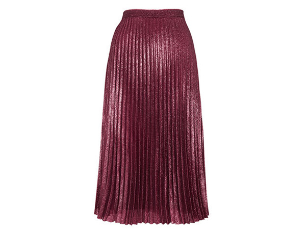 WHISTLES - Kitty Metallic Pleated Skirt, £140