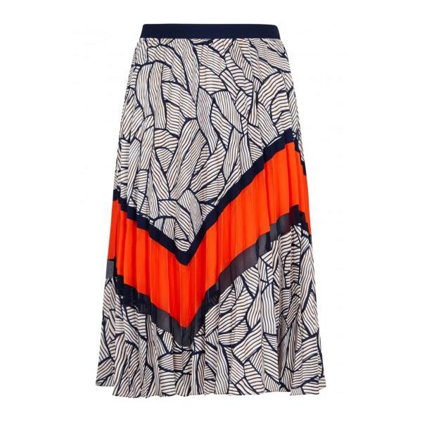 DIANE VON FURSTENBERG - Saphira Printed Plissé Skirt, £335