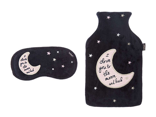 TOTES Moon And Star Hot Water Bottle And Eye Mask Set, £18
