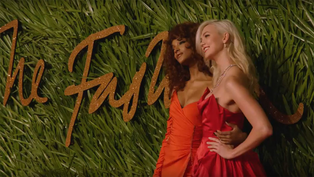 A still from The Fashion Awards 2017 Red Carpet Highlights - courtesy of The British Fashion Council
