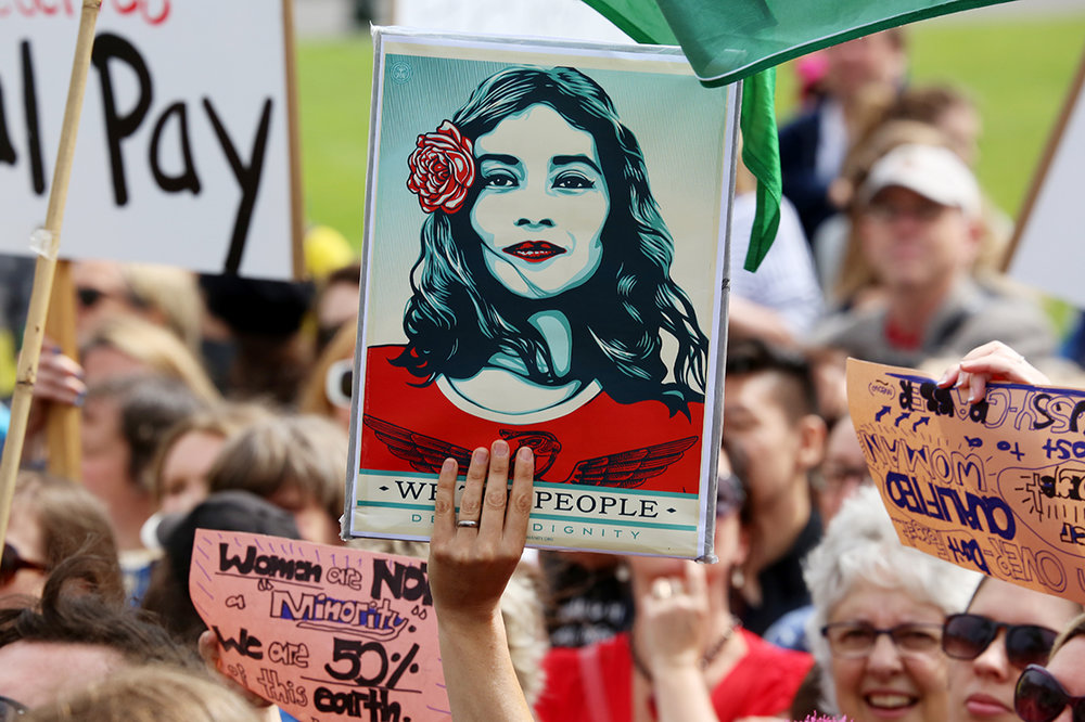 Women's March, Wellington, NZ, credit Andy McArthur