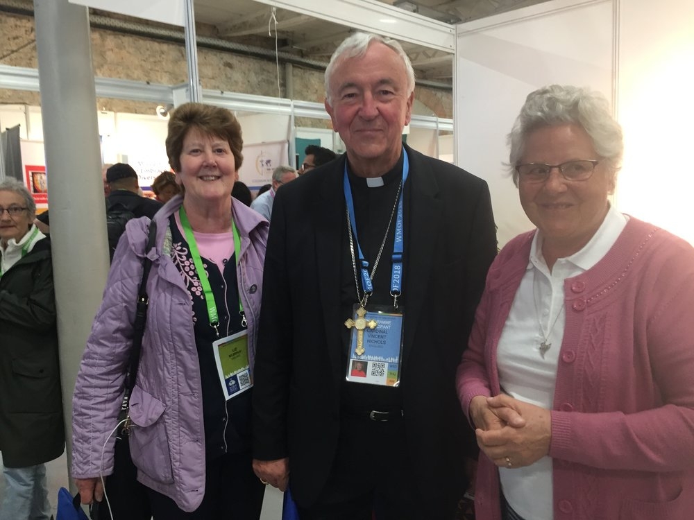 Cardinal Nichols visiting the AMRI exhibition stand