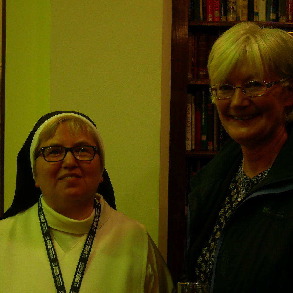 Sister Dominica Popach OP (left) with Sr Sheila Barrett DMJ