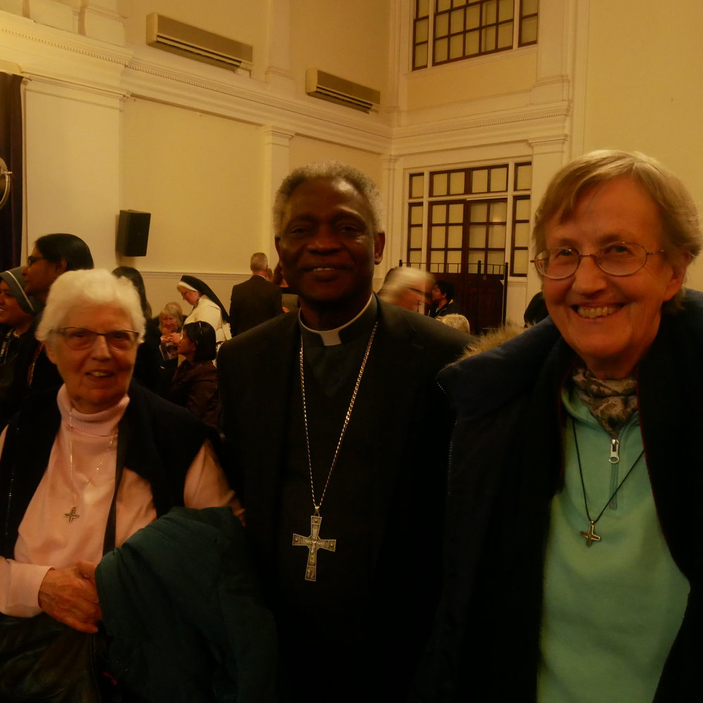 A joyful reunion for Missionary Sisters of Our Lady of Africa with Cardinal Turkson whom they knew for many years in Africa