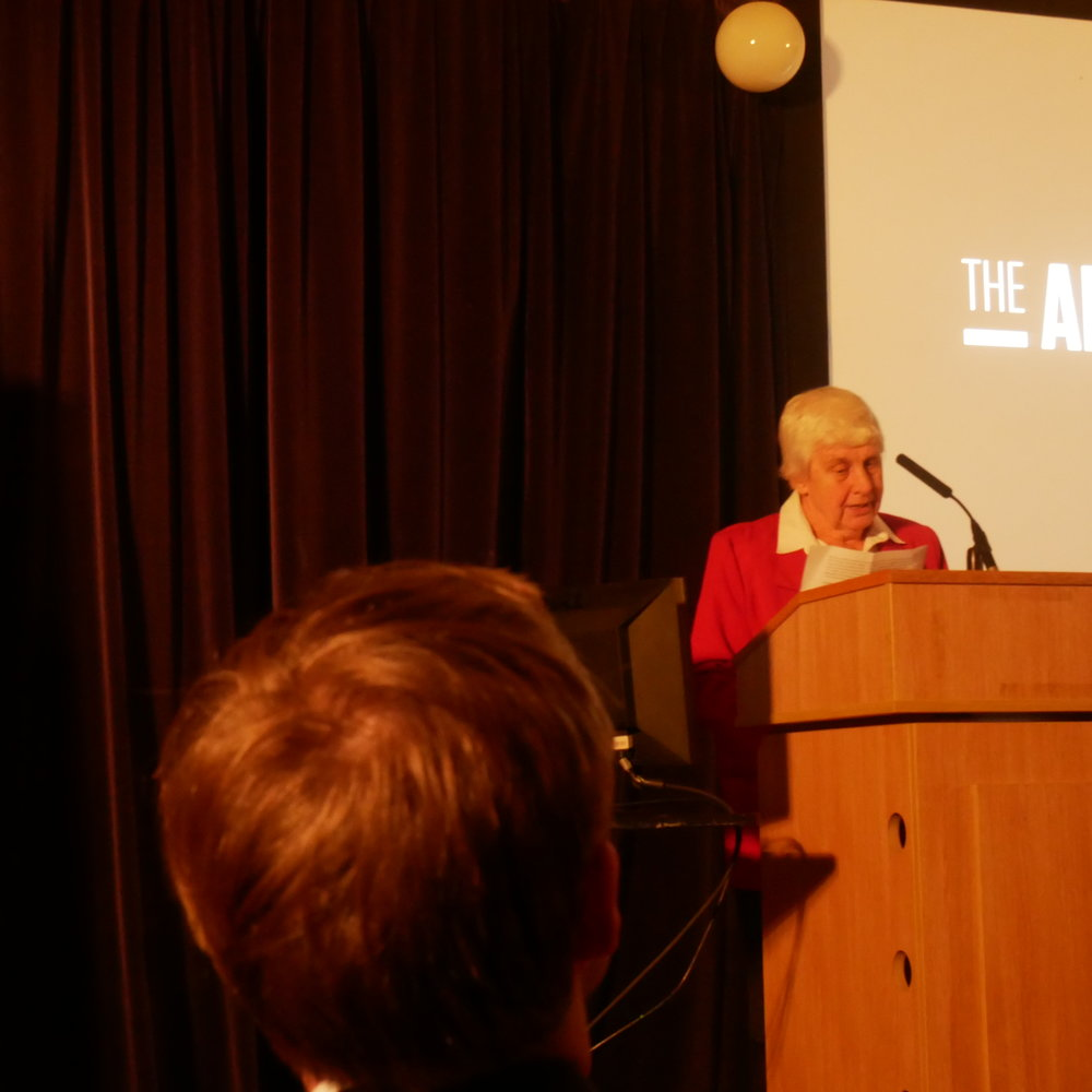 Sr Jane Maltby RSCJ addressing the audience at the launch of the Arise report