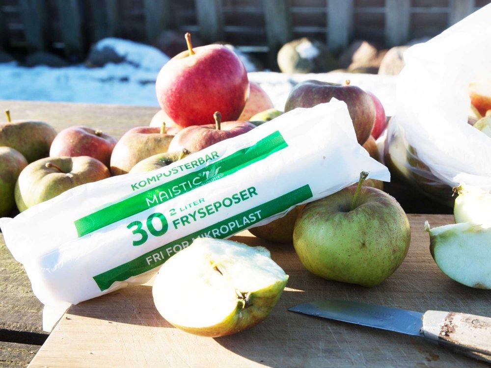 1 RULLE 4 LITERS FRYSEPOSER AF GMO FRI MAJS// Komposterbare -