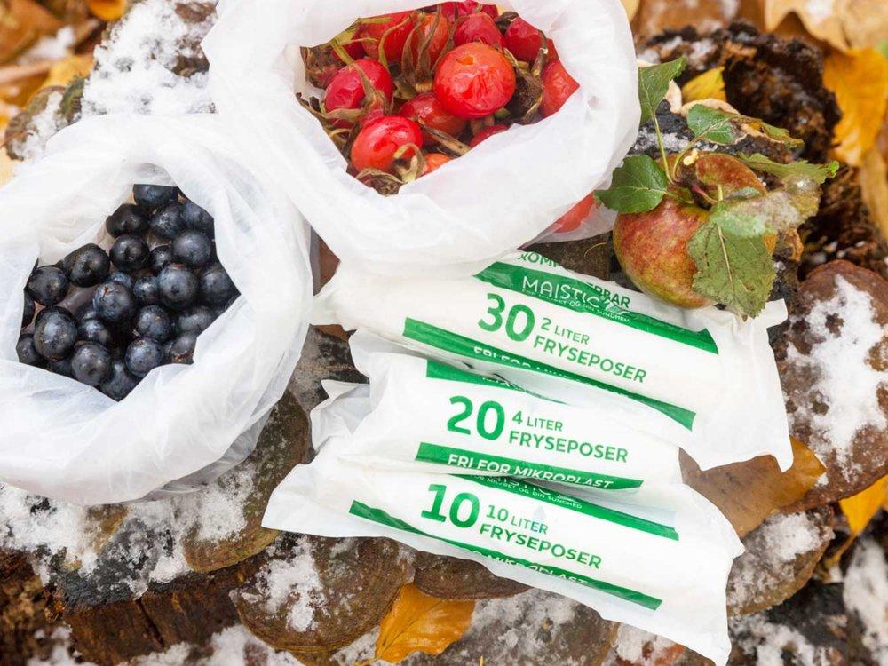 1 RULLER8 LITERS FRYSEPOSER AF GMO FRI MAJS// Komposterbare -