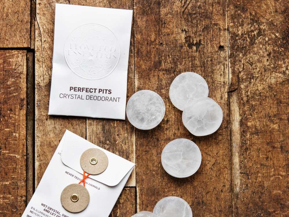 2 STK.PERFECT PITS KRYSTAL DEO// 100% naturlig / Parfumefri -