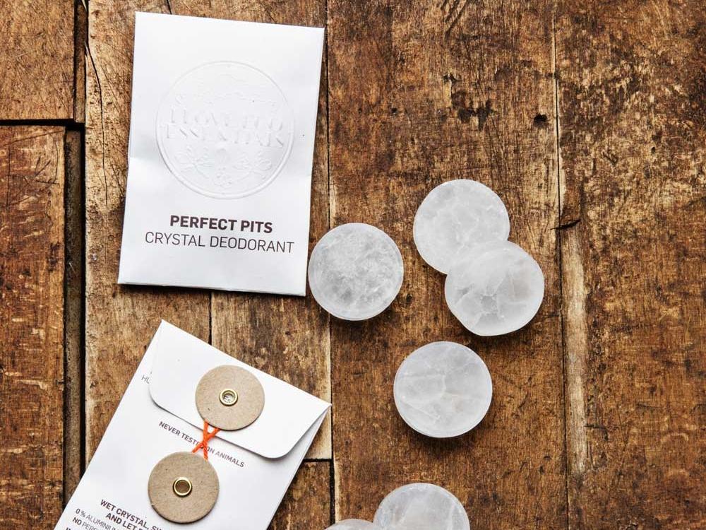 2 STK.PERFECT PITS KRYSTAL DEO // 100% plastikfri / Ren saltkrystal -