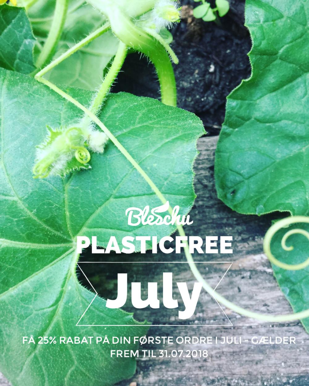 Husk at gøre brug af din rabatkode: PLASTICFREEJULY og få 25% på din første juli-ordre.