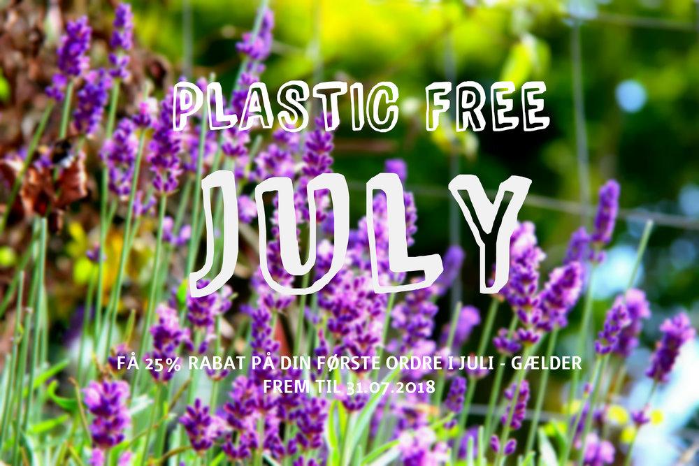 Husk at gøre brug af din rabatkode PLASTICFREEJULY og få 25% på dit første køb i juli.