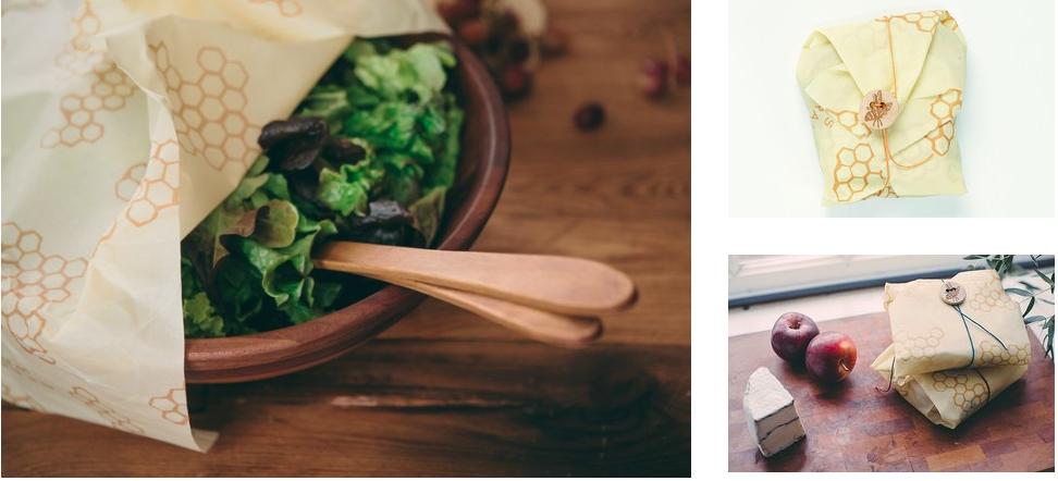 """En af de bedste og mest praktiske løsninger, du kan bruge på en picnic for at undgå engangsplast, er at bruge  Bee's Wrap  og  bomuldscovers  til at pakke din mad ind i. Læs mere om produkterne og hvorfor de er så geniale under """"køkken"""". Se også vores blogopslag  her , hvor vi viser, hvordan du kan lave din egen Bee's wrap og forklarer dybere om, hvad Bee's wrap er og hvorfor det er smart."""