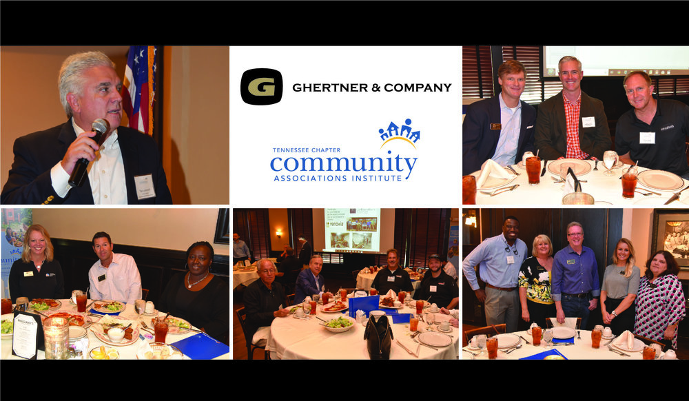 The September meeting featured Tom Jurkovich, Vice President of Strategic Communications, with the Nashville International Airport shared about airport's current status and future growth plan. Many pictured Ghertner and Company associates are pictured along with some vendor members.