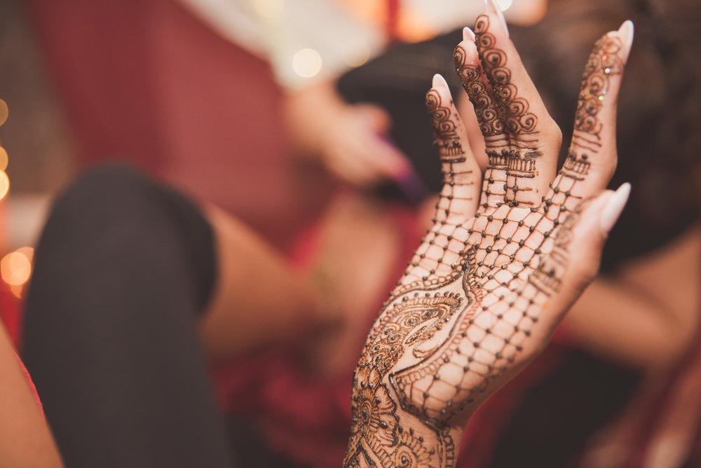Hindu bridal mehndi