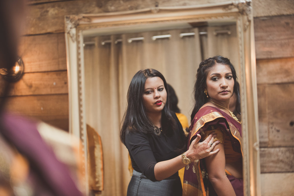 Hindu wedding preparations at The Tythe Barn