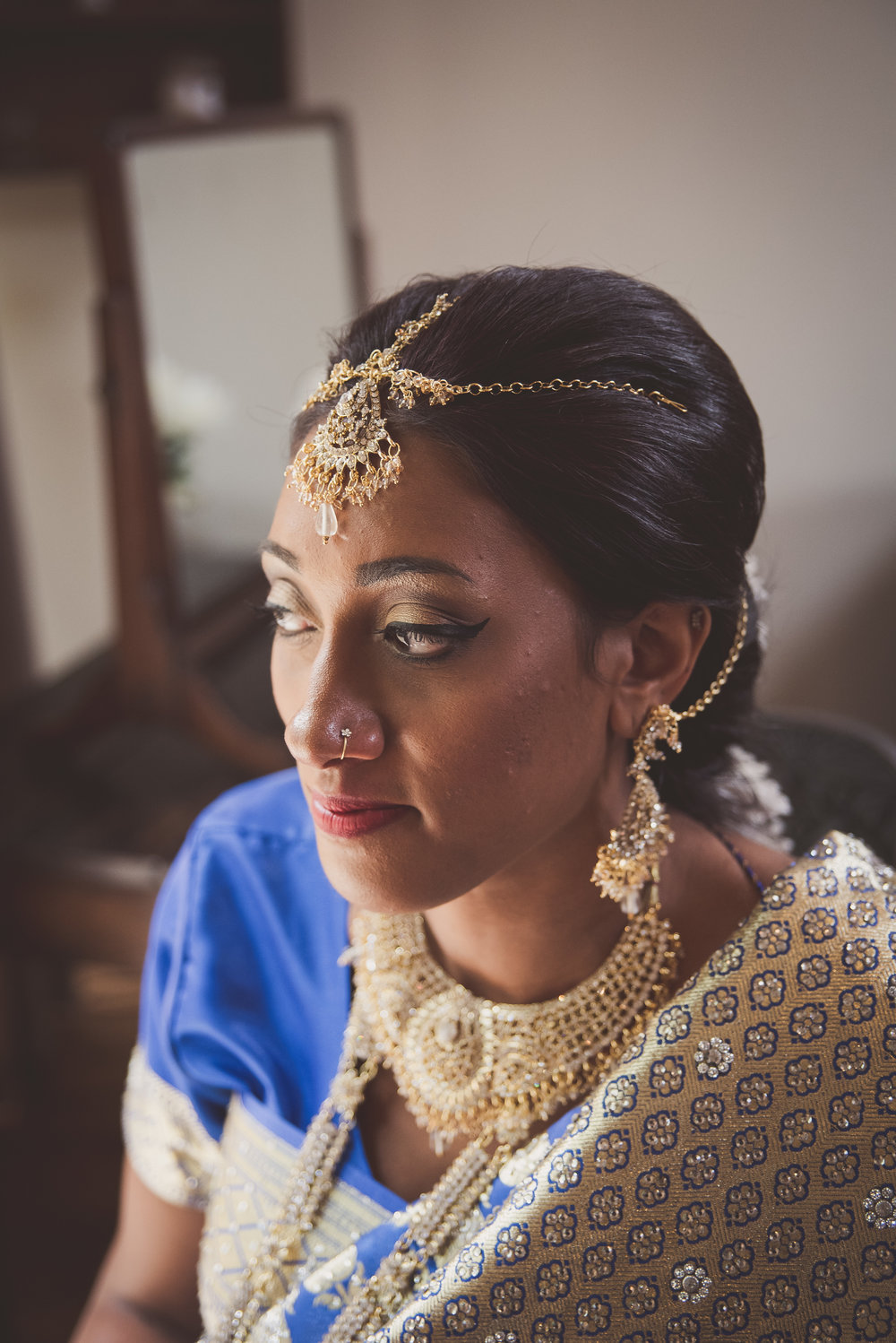 Hindu Bridal Photography at The Tythe Barn