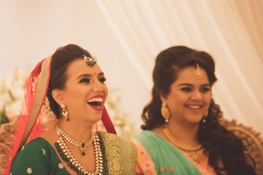 Hindu bride at the Oshwal Centre