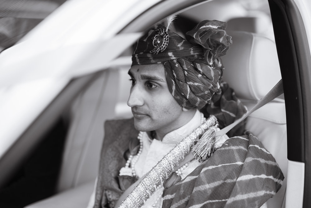 Groom leaves Stanmore Mandir