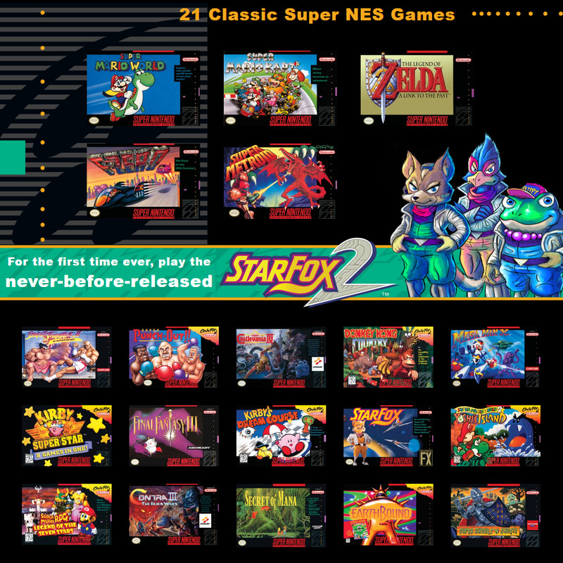 Nintendo - all of the 21 games available with the SNES Classic