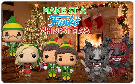 Funko's Christmas Funko Pops include Buddy Elf Funko Pop and Krampus Funko Pop!