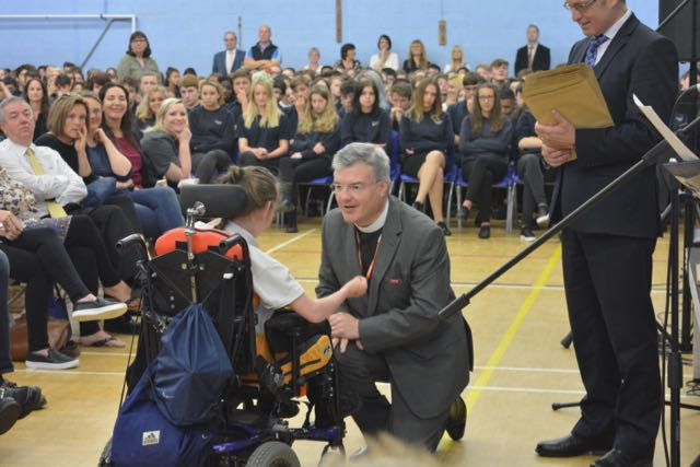 AD presenting prizes at Marlborough School.jpg