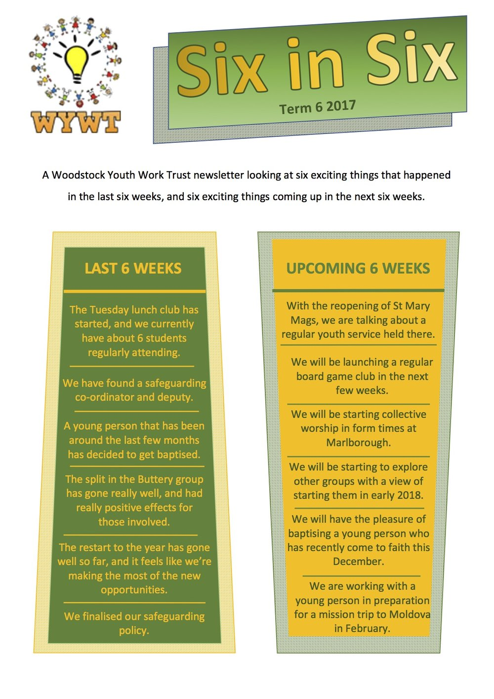 Woodstock youth Christian newsletter